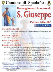 Manifesto Festa San Giuseppe 2014