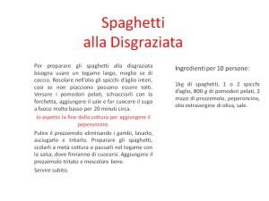 Spaghetti alla disgraziata