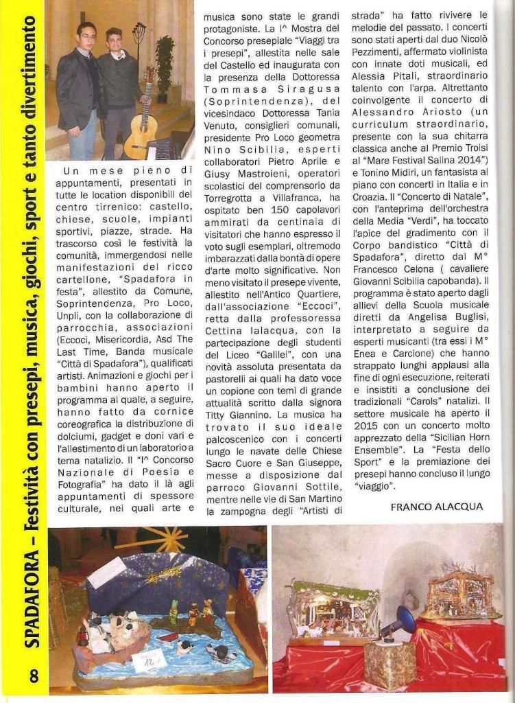 giornale primo piano gennaio 2015